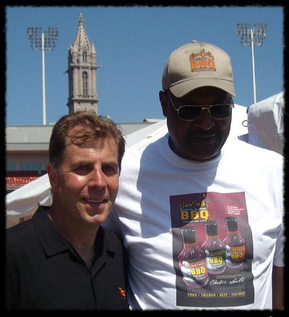 Buffalo Wing King Drew Cerza with Elmore Smith