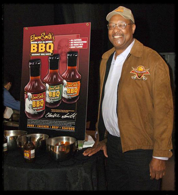 Elmore and his gourmet sauces
